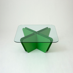 Grid Green Cross Table | Tables basses | Miranda Watkins