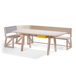 Stijl cornerbench amd table | Mesas y bancos | Lampert