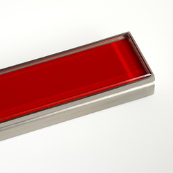CeraLine glass red | Linear drains | DALLMER
