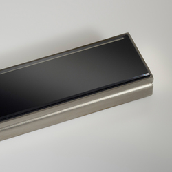 CeraLine glass black | Linear drains | DALLMER