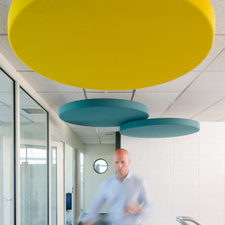 Abso acoustic cushions | Sound absorbing ceiling systems | Texaa®