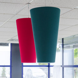 Abso acoustic cones | Sound absorbing suspended panels | Texaa®