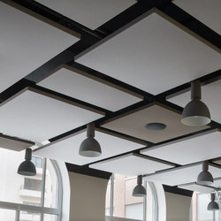 Stereo acoustic panels suspended | Acoustic ceiling systems | Texaa®