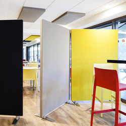 Stereo acoustic panels as partitions | Sound absorbing freestanding systems | Texaa®