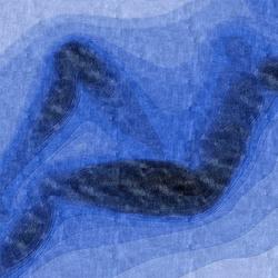 Confluence - Dégradé de bleus | Rugs / Designer rugs | Chevalier édition