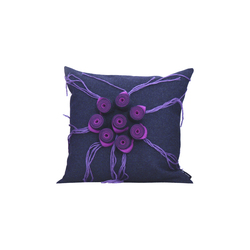 New Anais cushion blu viola | Kissen | Poemo Design