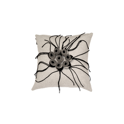 New Anais cushion ecru antracite | Cushions | Poemo Design