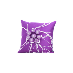 New Anais cushion ecru viola | Cushions | Poemo Design
