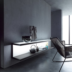 Wall shelf 100 | GERA light system 6 | Illuminated shelving | GERA
