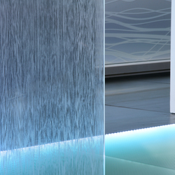 Madras® Wengé Maté double face clear | Decorative glass | Vitrealspecchi