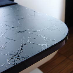 Madras® Uadi black painted | Glass countertops | Vitrealspecchi