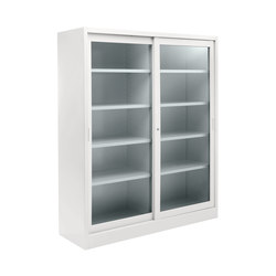 Tempered glass sliding door cabinet | W 1800 H 2000 mm | Armadi ufficio | Dieffebi