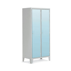 HPL | 2 doors locker with partition | Kleiderspinde / Schliessfächer | Dieffebi