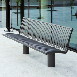 Denver metal Outdoor Bench | Bancos de exterior | AREA