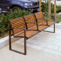 Newport wood Outdoor Bench | Exterior benches | AREA