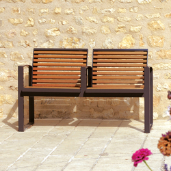 Newport wood Outdoor Bench | Panche | AREA