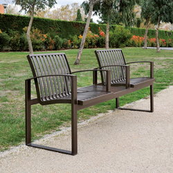 Newport metal Outdoor Bench | Bancos | AREA