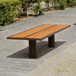 Toronto wood Outdoor Bench | Exterior benches | AREA