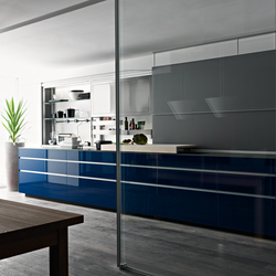 New Logica System Invitrum blu | Cucine a parete | Valcucine