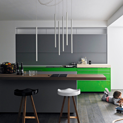 New Logica System Invitrum verde prato | Fitted kitchens | Valcucine