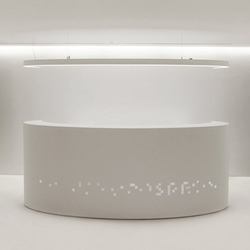 Ellipse reception & pendant lamp | Reception desks | AMOS DESIGN