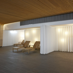 Room Divider / Cubicle Track System SG 6100 | Sound absorbing suspended panels | Silent Gliss