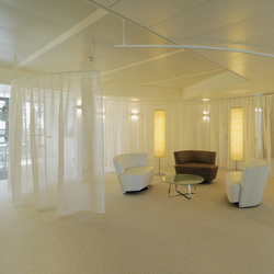 Room Divider / Cubicle Track System SG 6103 | Sound absorbing suspended panels | Silent Gliss