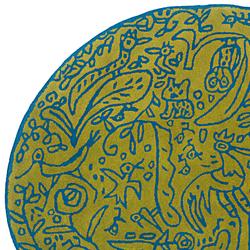 Bichos y flores Pistachio | Formatteppiche | Nanimarquina