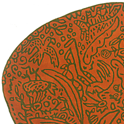 Bichos y flores Naranja | Rugs / Designer rugs | Nanimarquina