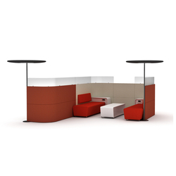 MeetYou partitions | Lounge-work seating | Haworth