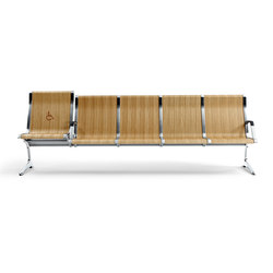 Passport Wood | Waiting area benches | actiu