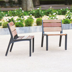 miela | Park bench with backrest | Chairs | mmcité