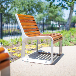 portiqoa | Park bench with backrest | Exterior chairs | mmcité