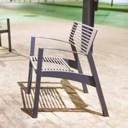 vera | Park bench with backrest and armrests | Chairs | mmcité