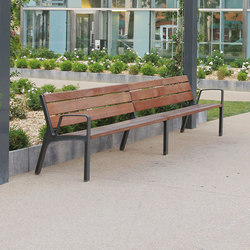 miela | Double park bench with backrest | Exterior chairs | mmcité