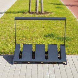 velo | One-sided bicycle stand with bar | Bicycle stands | mmcité