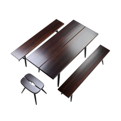Pirkka Table with 2 Benches | Bancos y mesas para restaurantes | Artek