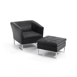 Dama Armchair I Pouf | Lounge chairs | Giulio Marelli