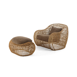 Balou Easy Armchair with Ottoman | Garden armchairs | Kenneth Cobonpue