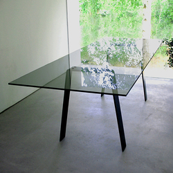 Local Glass Steel | Dining tables | ZinX