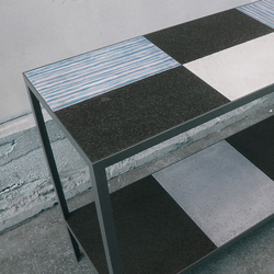 Furniture Sideboard Black & White | Natural stone tiles | Ulrike Weiss