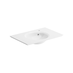 Unique Washbasin For Right Hand Side Tap | Wash basins | pom d'or