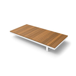 Pure Wooden Table 180 | Mesas de centro de jardín | Viteo