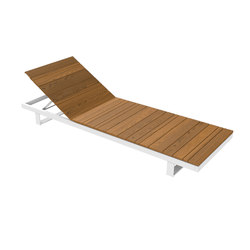 Pure Collection | Wooden Sunlounger | Tumbonas de jardín | Viteo
