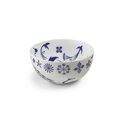 "TABLESTORIES bowl 22 ""Flower Peacocks"" 