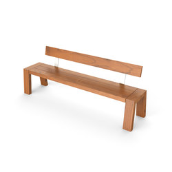 Solo Bench with Backrest | Garden benches | Viteo