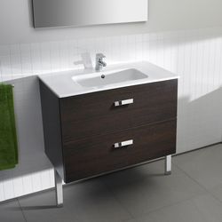 Vanity units-Wash basins-Wash basins-Unik Victoria washbasin with pedestal-ROCA