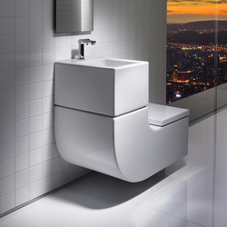 W+W washbasin + toilet | Klosetts | ROCA