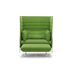 Alcove Highback Love Seat I Ottoman | Lounge chairs | Vitra