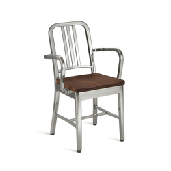 Navy® Armchair with natural wood seat | Restaurant chairs | emeco